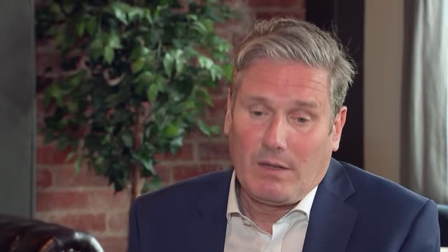 county durham darlington int keir starmer mp interview sot re how he will sell himself against boris johnson - darlington north east england stock videos & royalty-free footage