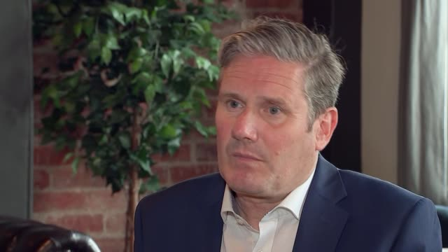 keir starmer interview; england: county durham: darlington: int keir starmer mp interview sot - re: who he is and his belief in equality / scale of... - darlington north east england stock videos & royalty-free footage