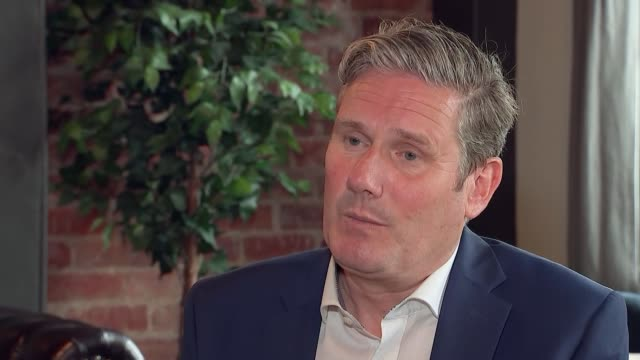 keir starmer interview; england: county durham: darlington: int keir starmer mp interview sot - re: the labour party / factionalism / financial... - darlington north east england stock videos & royalty-free footage