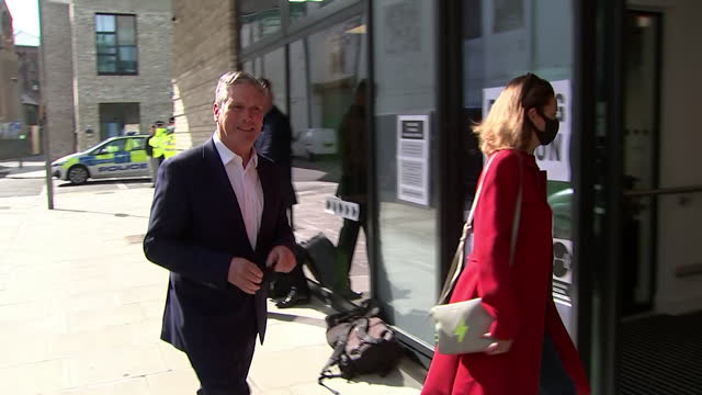 keir starmer, labour leader, and wife victoria, arrive at polling station in london to vote in local elections - married stock videos & royalty-free footage