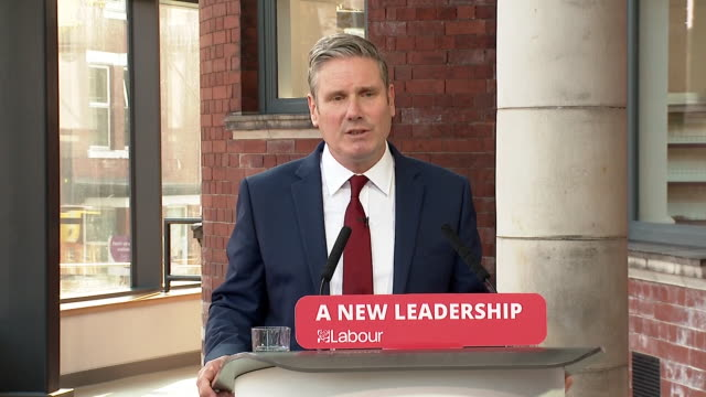 "keir starmer listing ""decency, fairness, opportunity, compassion and security"" as the values of the labour party - remote location stock videos & royalty-free footage"