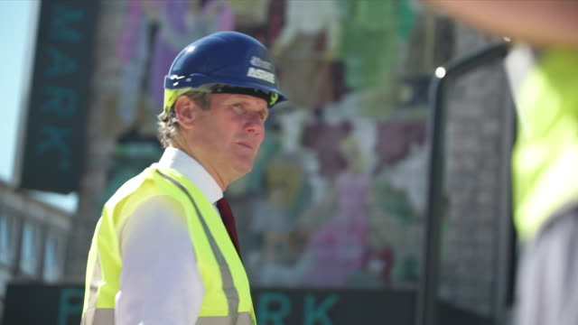 keir starmer mp, labour leader, looking at redevlopment during visit to stevenage town centre - keir starmer stock videos & royalty-free footage