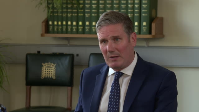 """keir starmer saying a brexit deal is there to be had let's negotiate get that deal and move on - """"bbc news"""" stock videos & royalty-free footage"""