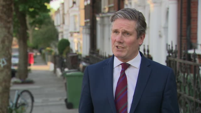 "keir starmer saying boris johnson has ""failed a huge test"" by not sacking dominic cummings for allegedly breaking coronavirus self-isolation rules - broken stock videos & royalty-free footage"