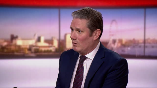 "keir starmer saying it is ""inevitable"" that the wealthier in society will have to contribute more to rebuild the economy after the coronavirus crisis - rebuilding stock videos & royalty-free footage"