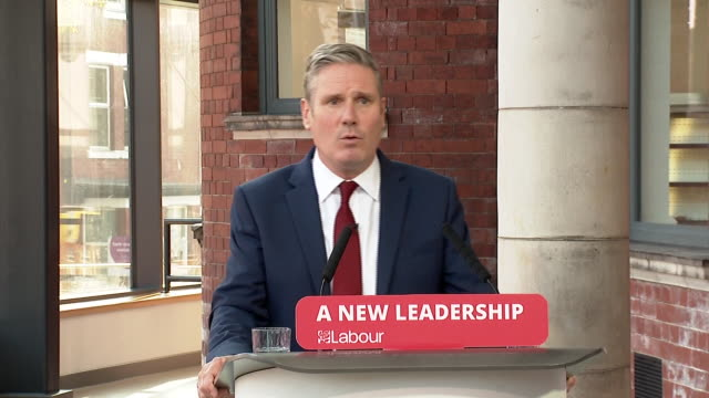 "keir starmer saying ""it's time to get serious about winning"" a general election for the labour party - remote location stock videos & royalty-free footage"