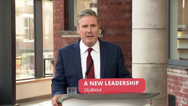 "keir starmer saying labour under his leadership can be ""trusted with national security, your job, your community and your money"" - remote location stock videos & royalty-free footage"