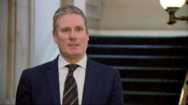 keir starmer saying labour will act constructively with the government during the coronavirus crisis - keir starmer stock videos & royalty-free footage