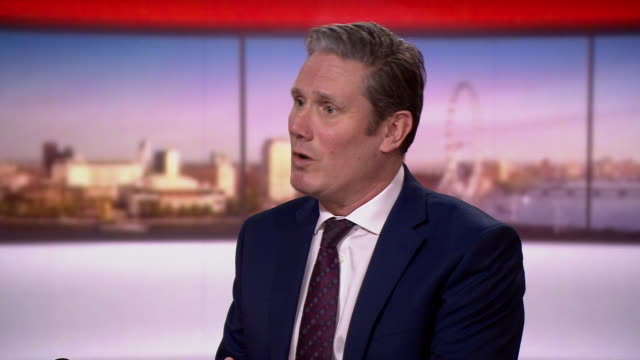 """keir starmer saying labour will take an approach of """"constructive engagement"""" with the government during the coronavirus crisis - keir starmer stock videos & royalty-free footage"""