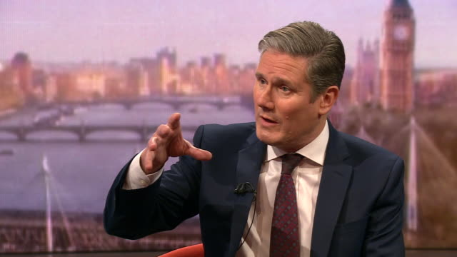 keir starmer saying the argument has to move on from brexit - nachfolger stock-videos und b-roll-filmmaterial