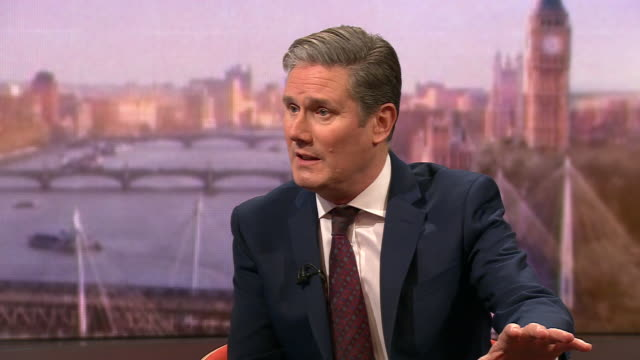 keir starmer saying there needs to be less focus on labour's 2019 manifesto and more focus on the 2024 manifesto - loss stock videos & royalty-free footage