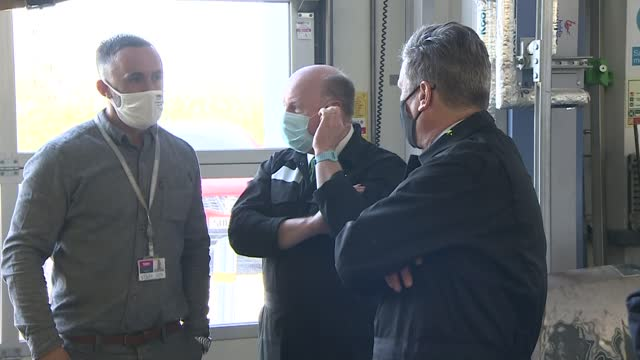keir starmer visits sandwell college; england: west midlands: west bromwich: sandwell college: int keir starmer mp chatting with apprentice and... - welding stock videos & royalty-free footage