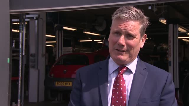 keir starmer visits sandwell college; england: west midlands: west bromwich: sandwell college: ext keir starmer mp interview sot. re allegations... - week stock videos & royalty-free footage