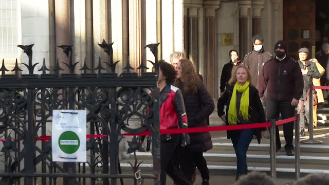 keira bell, outside high court, after winning case that argued a court order should be needed for children under sixteen who want to take puberty... - geographical locations stock videos & royalty-free footage