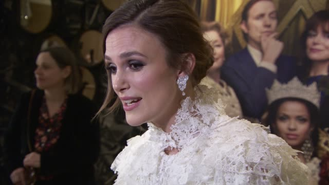 keira knightley at 'misbehaviour' world premiere on march 9, 2020 in london, england. - miss world pageant stock videos & royalty-free footage