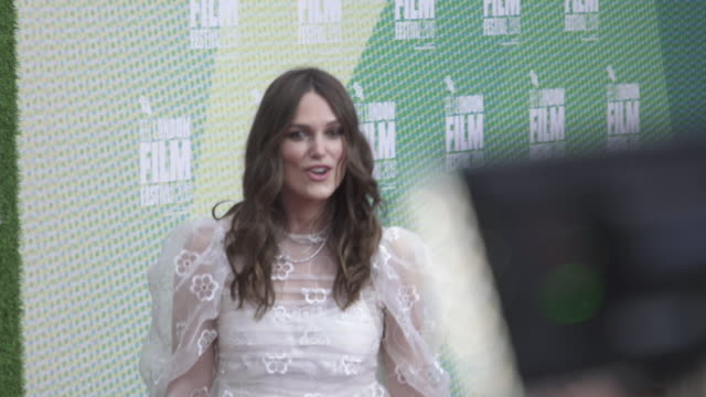 keira knightley at 'official secrets' european premiere 63rd bfi london film festival at embankment garden cinema on october 10 2019 in london england - the times bfi london film festival stock videos & royalty-free footage