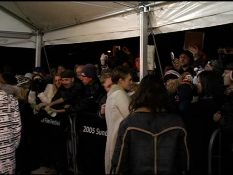 keira knightley at the 2005 sundance film festival 'the jacket' premiere at the eccles theatre in park city, utah on january 23, 2005. - park city utah video stock e b–roll
