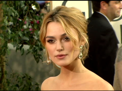 Keira Knightley at the 2006 Golden Globe Awards Arrivals at the Beverly Hilton in Beverly Hills California on January 16 2006