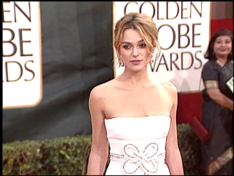 Keira Knightley at the 2006 Golden Globe Awards at the Beverly Hilton in Beverly Hills California on January 16 2006