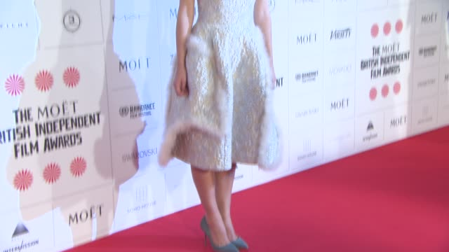 keira knightley at the moet british independent film awards 2014 at old billingsgate market on december 07 2014 in london england - audio electronics stock videos & royalty-free footage