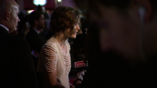 Keira Knightley at the Never Let Me Go Premiere 54th BFI London Film Festival at London England