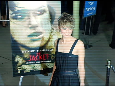 Keira Knightley at the Special Screening of 'The Jacket' at the Pacific ArcLight Theatre in Los Angeles California on February 28 2005