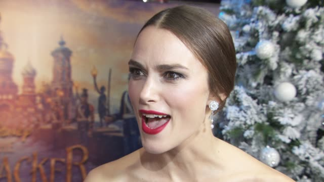 interview keira knightley on being a disney princess dressing up with her daughter and her favourite disney characters at the nutcracker and the four... - the nutcracker named work stock videos & royalty-free footage