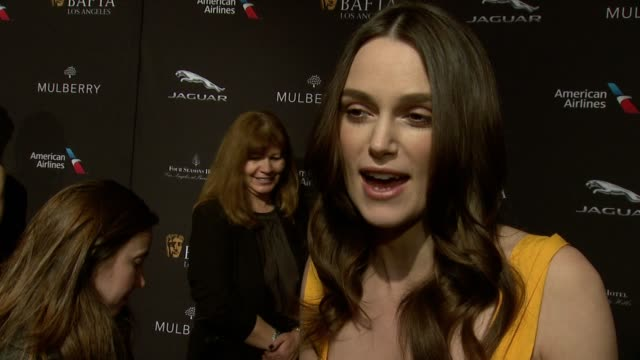 INTERVIEW Keira Knightley on being nominated on being at the event on what makes the BAFTA Tea Party one of the most prestigious events of the...