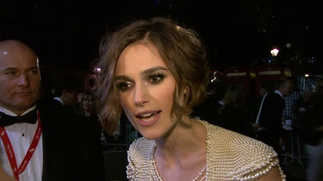 Keira Knightley on character working with friends London film festival films message stretching herself in roles at the Never Let Me Go Premiere 54th...