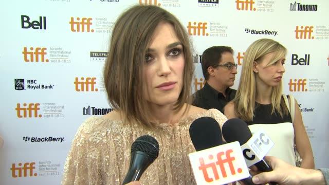 Keira Knightley on having fun making the film despite the dark subject matter at the 'A Dangerous Method' Premiere 2011 Toronto International Film...