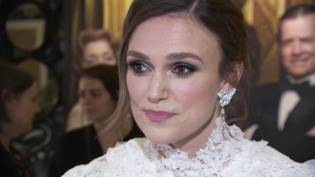 keira knightley on working with philippa lowthorpe and what she hopes people will take away from the film at 'misbehaviour' world premiere on march... - mischief stock videos & royalty-free footage