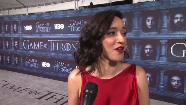 keisha castle-hughes on that she's here at the tcl chinese theater and what it means to have her show premiere at such an iconic hollywood theater,... - tcl chinese theater stock-videos und b-roll-filmmaterial