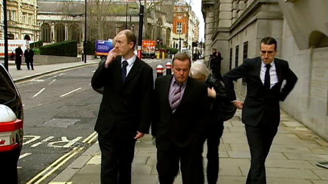 Nicholas Jacobs found not guilty Old Bailey DAY Elizabeth Johnson and sons Lee Blakelock Kevin Blakelock and Mark Blakelock arriving at court Johnson...