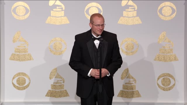 SPEECH Keith Hancock at the 59th Annual Grammy Awards Press Room at Staples Center on February 12 2017 in Los Angeles California