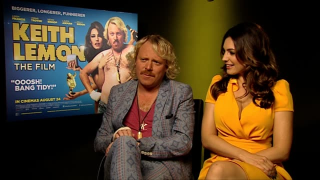 keith lemon and kelly brook on the chances of a sequel at keith lemon the film interview at soho hotel on august 20 2012 in london england - kelly brook stock-videos und b-roll-filmmaterial