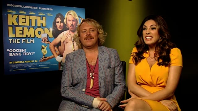 keith lemon and kelly brook on what kelly contributed to the role at keith lemon the film interview at soho hotel on august 20 2012 in london england - kelly brook stock-videos und b-roll-filmmaterial
