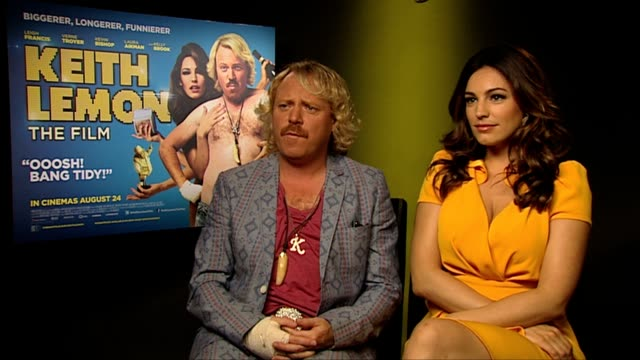 keith lemon and kelly brook on what they want the audience to feel at keith lemon the film interview at soho hotel on august 20 2012 in london england - kelly brook stock-videos und b-roll-filmmaterial