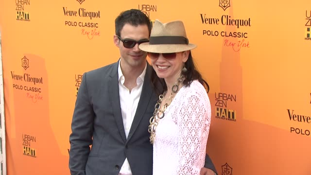 keith lieberthal and julianna margulies at the the fourth annual veuve clicquot polo classic at new york ny - julianna margulies stock videos and b-roll footage