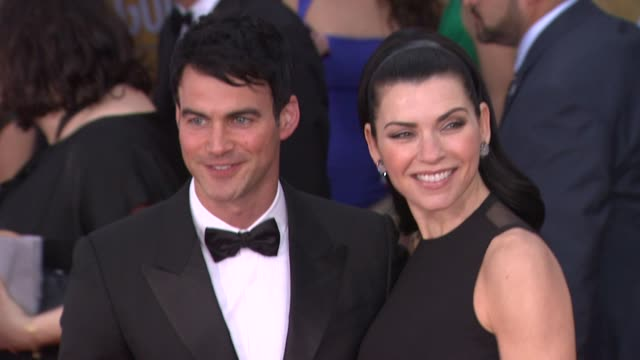 keith lieberthal julianna margulies at 19th annual screen actors guild awards arrivals 1/27/2013 in los angeles ca keith lieberthal julianna... - julianna margulies stock videos and b-roll footage