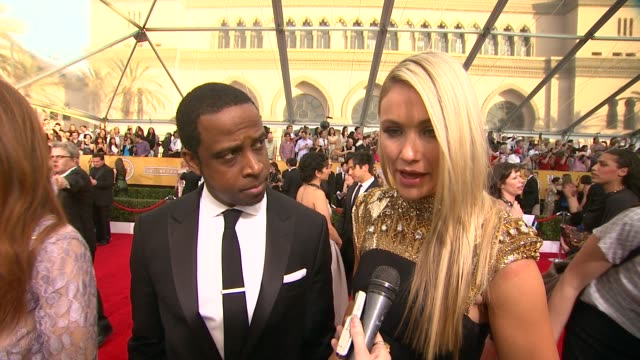 interview keith powell katrina bowden on what the show's nomination means to them getting ready for the show if they compare notes with their costars... - katrina bowden stock videos and b-roll footage