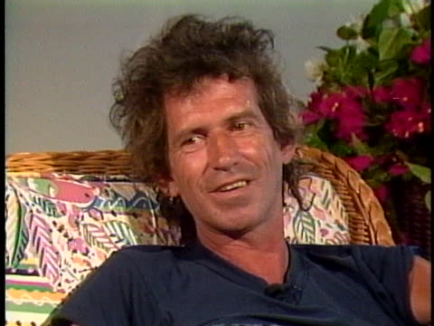 keith richards from the rolling stones discusses his love of performing. - music or celebrities or fashion or film industry or film premiere or youth culture or novelty item or vacations stock videos & royalty-free footage