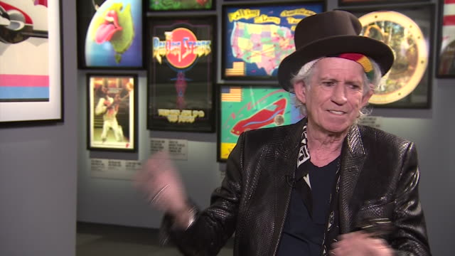 Keith Richards saying that the new Rolling Stones exhibition is like 'walking through your life'