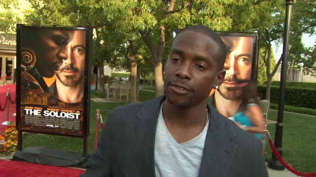 keith robinson on the event, a risk he took in his life at the 'the soloist' premiere at los angeles ca. - soloist stock videos & royalty-free footage