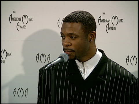 Keith Sweat at the American Music Awards at the Shrine Auditorium in Los Angeles California on January 27 1997