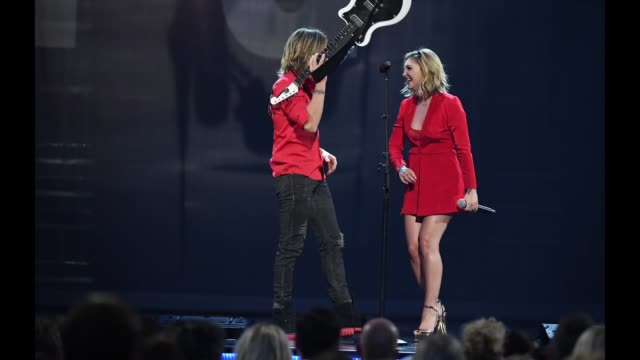 keith urban and julia michaels perform onstage during the 53rd academy of country music awards at mgm grand garden arena on april 15 2018 in las... - academy of country music awards stock videos & royalty-free footage