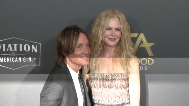 Keith Urban and Nicole Kidman at the 22nd Annual Hollywood Film Awards at The Beverly Hilton Hotel on November 04 2018 in Beverly Hills California