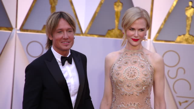 keith urban and nicole kidman at the 89th annual academy awards arrivals at hollywood highland center on february 26 2017 in hollywood california 4k - nicole kidman stock videos & royalty-free footage