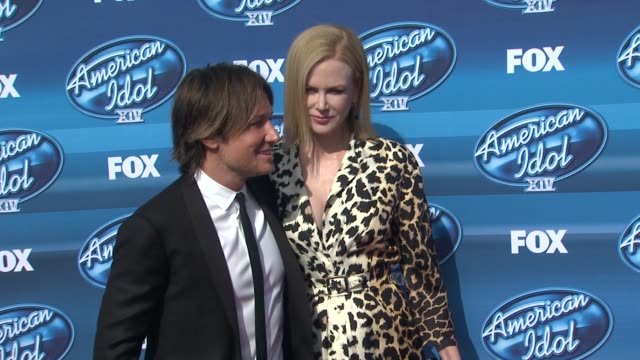 Keith Urban and Nicole Kidman at the American Idol XIV Grand Finale Arrivals at Dolby Theatre on May 13 2015 in Hollywood California