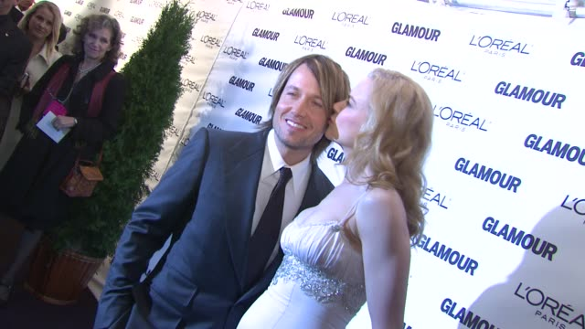 keith urban and nicole kidman at the glamour magazine honors the 2008 women of the year at new york ny - nicole kidman stock videos & royalty-free footage