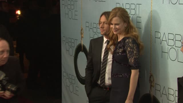 keith urban and nicole kidman at the 'rabbit hole' new york premiere at new york ny. - keith urban stock videos & royalty-free footage